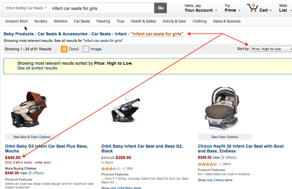 car seats on amazon